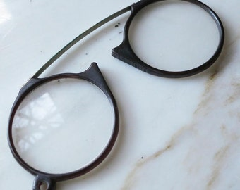 Pince Nez - Vintage Reading Glasses - A Pair of Antique Magnifying Glasses