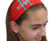 Custom Personalized Embroidered Girls Curlz Cotton Stretch Headband - Funny Girl Designs
