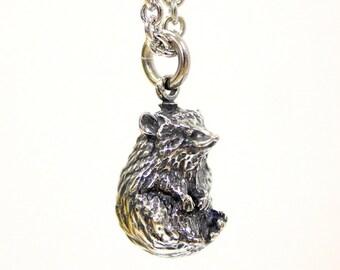 Hedgehog Necklace Silver 495