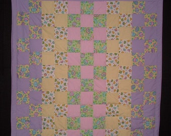 Easter Eggs Lap or Crib Quilt
