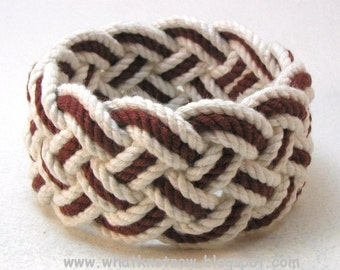wide marsala rope bracelet turks head knot sailor bracelet cotton nautical rope work rope jewelry 3507