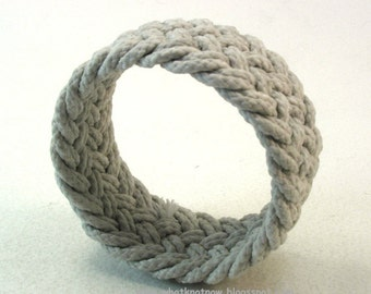 weathered herringbone weave rope bracelet knotted bracelet rope jewelry 3712