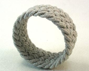 weathered herringbone weave rope bracelet knotted bracelet rope jewelry 3712