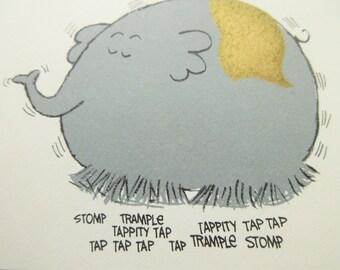 Vintage Card, Birthday Card, Elephant Birthday, Humorous Card,  1970s Card, Spiral Bound, Greeting Card, Hallmark Card, Birthday Elephant