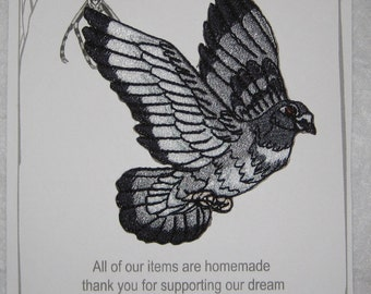 Epic Homing Pigeon Bird Iron On Patch Applique