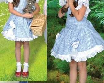 Wizard of Oz Inspired Dorothy Costume Dress for toddlers and girls 3t to size 10 Halloween