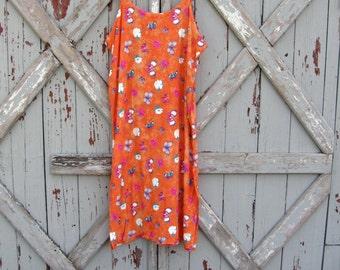 Chillaxin' - vintage 1990s handmade sundress XL XXL