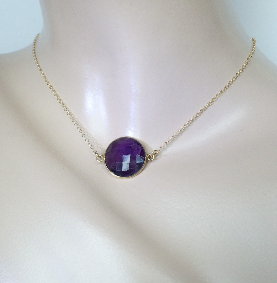 amethyst stone necklace - photo #33