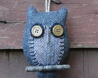 owl doll ornie stuffed wool hanging