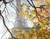 Paris Photography, Autumn Light on the Eiffel tower, Paris Decor, Golden Leaves, Chasing Light, Fall in Paris
