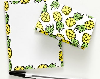 Pineapple Notepad & Notecards All-In-One