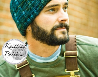 Knitting Pattern for Men's Hat - J.T.