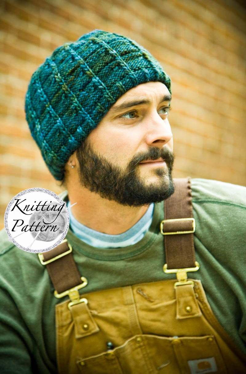 Knitting pattern for mens hat jt from woolibear on etsy studio this is a digital file bankloansurffo Gallery
