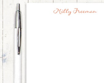 personalized notePAD - PERFECTLY SWEET - feminine stationery - letter writing paper - custom stationary - girl notepad