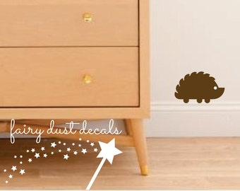 Hedgehog Wall Decal - animal decal - hedgehog porcupine vinyl wall decal - childrens room wall decals
