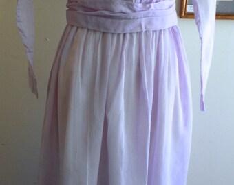"""1914, 36"""" bust, pale lilac colored batiste cotton dress."""