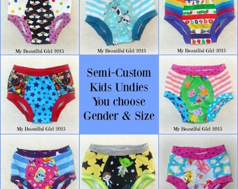 Surprise Undies!  You choose gender and size, 3-Pack - Semi-Custom