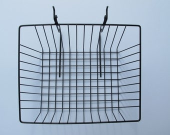 Sloping grid display baskets - set of six