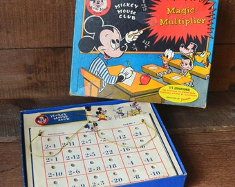 Vintage Mickey Mouse Club Magic Multiplier Game Jacmar