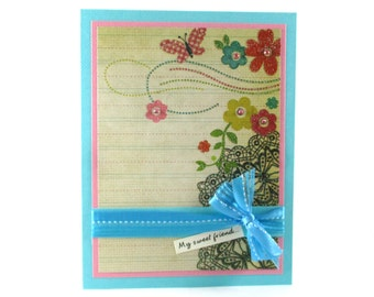 Friendship cards, best friends, thinking of you, I love you cards, My sweet friend, just because card