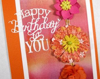 Birthday cards, happy birthday cards, feminine birthday, greeting cards, floral cards, birthday card for wife