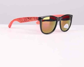 vintage 1990s sunglasses neon + black wayfarers surfer style 1980s vtg new old stock unisex