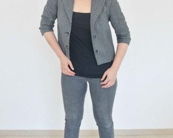 Reconstructed Jacket, made of a mensjacket, size 36, Dutch Design by Studio HENKE