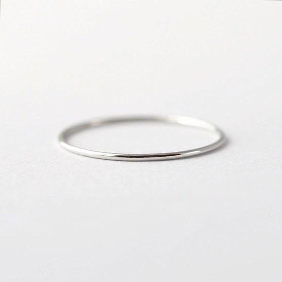 Simple Platinum Wedding Band Thin PT950 Ring
