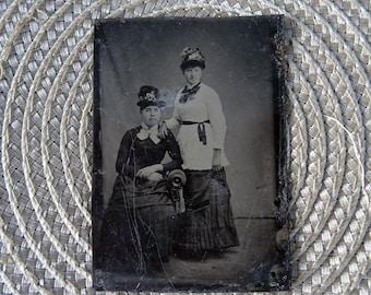 antique metal tintype photo - NO373