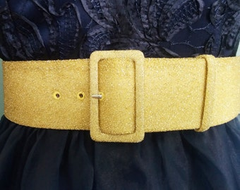 wide GOLD belt - fabric covered buckle - fabric belt -  gold belt - wide belt - plus size - 2 inch wide