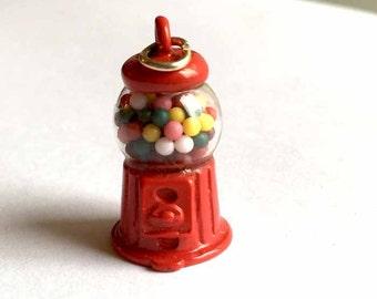 GUMBALL MACHINE Candy Metal Charm-Candy Charm-Gum Charm-Gumball Machine charm-Novelty charm-Bubblegum Charm-Children's Charm-Miniature Charm
