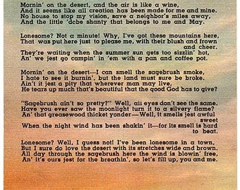 Vintage Southwest Postcard - Morning on the Desert (Unused)