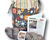 "Autumnal ""Just Add Needles"" Knitting Kit - Limited Edition One Skein Project Bag, Yarn & Fingerless Mitt Pattern"