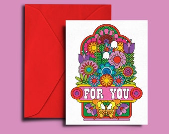 "Floral ""For You"" - Gratitude All Occasion C6 Card"