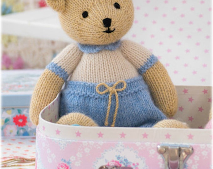 Boy Bear Toy Knitting Pattern/ INSTANT Download/ PDF/ Knitted Boy Teddy Bear/ Method 1/ Small Bear