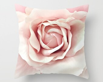 Shabby Chic Rose Pillow Cover, Shabby Chic Decor, Pastel Pink Roses Pillow, Pink Baby Girl Nursery Decor, Baby Nursery Room Throw Pillows