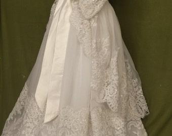 "Angela West Christening gown set ""Lavinia"" with coat, bonnet,booties,bib, taffeta slip and preservation kit LAST ONE!"