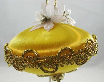 Decorated Satin Saturn Shaped Christmas Ornament 112