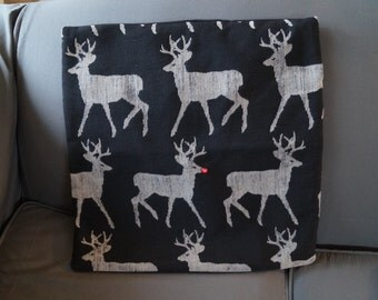 Reindeer Accent Pillow Cover