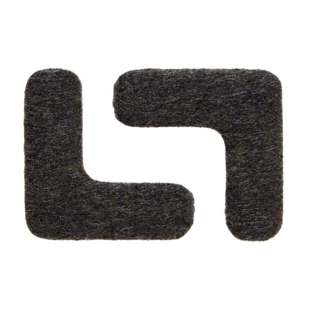 Heavy Duty Floor And Furniture Corner Felt Pads 1 5 X 1 5 Size Dark Brown Multiple Pack