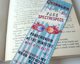 Harry Potter Bookmark Hogwarts - The Quibbler Muggles Weasley U no poo Dumbledore quote it does not do to dwell on dreams and forget to live