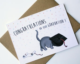Graduation cat card - Congratulations on your graduation