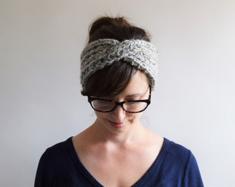 Chunky Knit Headband // Turban Headband // Knit Headband // Chunky Knits // Knit Turban Headband