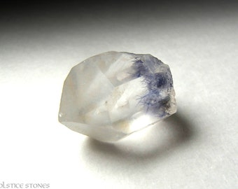 Rare Blue Dumortierite in Quartz, Small Terminated Crystal // Third Eye Chakra // Crystal Healing // Mineral Specimen