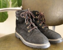 90's ESPRIT Black Suede Ankle Boots