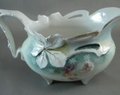 Antique R S PRUSSIA Mold 347 porcelain Gravy Boat Circa 1903-1904 USA ONLY