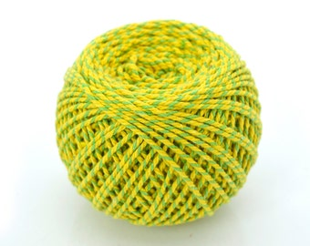 Cotton Twine, Green Yellow, Twine Ball, Gift Packaging, Colored Twine  -T89