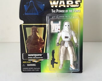 Star Wars Figure - Snowtrooper - Kenner Star Wars Toy, Vintage Star Wars Action Figure, 90s Toy, Empire Strikes Back Stormtrooper