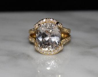 Morganite Ring, Morganite Engagement Ring, Pale Pink Lavender Stone/Appraisal Included