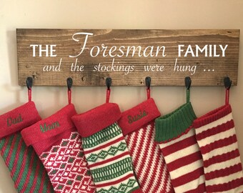 Wooden Stocking Holders